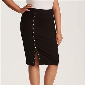 Torrid Pencil Skirt Snap Front